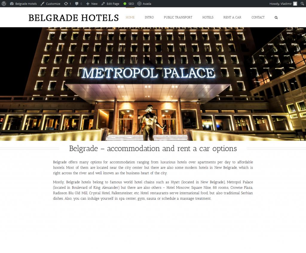 belgrade hotels